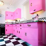 Funky pink kitchen