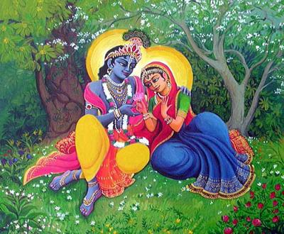 Lord Krishna And Radha