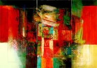 Abstract Art - Sinfonia III by Giuliano Censini e-card