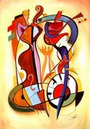 Abstract Art - Wild Party I by Alfred Gockel e-card