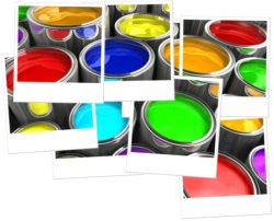 Hockney Style Paint Pots