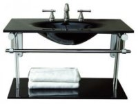 Black bathroom basin