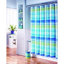 Stripey blue bathroom accessories