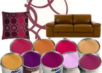 Tan And Purple Color Scheme