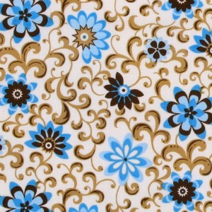 The Gallery Sarah's Garden Flourish Cream/Brown/Turquoise