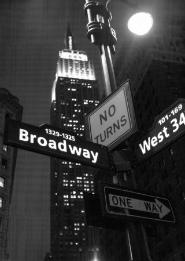 Black and white New York picture