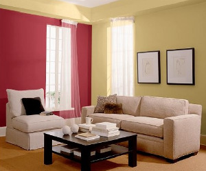 Pinkish Red Feature Wall