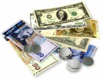 Currency notes and coins