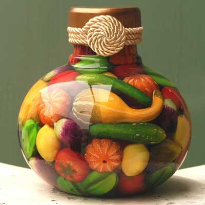 Preserved Fruit Decorative Jar