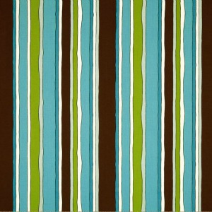 Stripes Aqua/Brown by Cranston