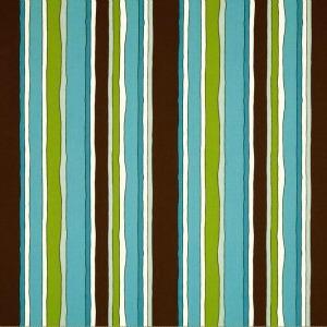Stripes Aqua/Brown by Cranston