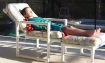 Little girl sunbathing