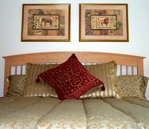 Gold master bedroom