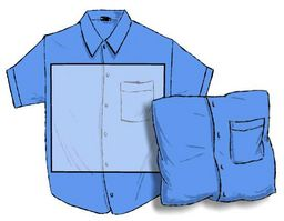Blue shirt and pillow cover