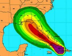 Hurricane tracking map