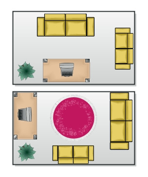 Lounge Layout - Before and After