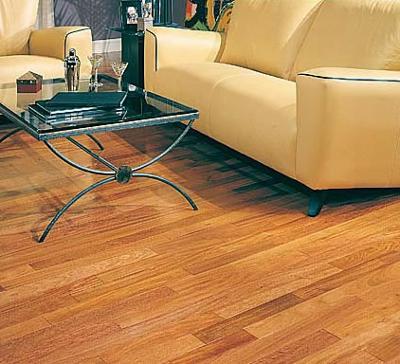 Mahogany Brown Hard Wood Floor