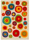Multi-coloured circle pattern rug