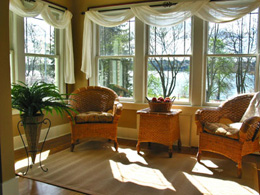 living room window treatment idea - Living Room Window Coverings