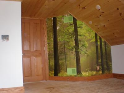 Forest Mural Bedroom - Before