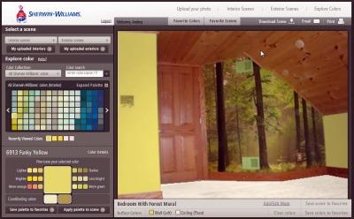Forest Mural Bedroom - After