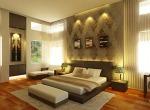 pale grey bedroom