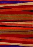 Orange stripey rug