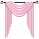 Pink scarf valance