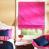 Bright pink Roman shade