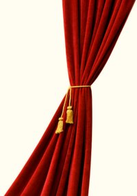 Red velvet curtain