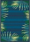 Palm patterned rug