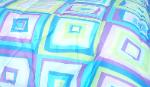 Square patterned fabric