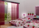 strawberry pink bedroom
