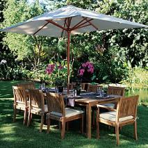 Teak patio furniture from John Lewis