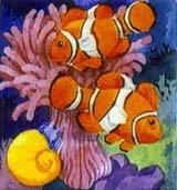 Clown fish ceramic tile