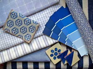 Swatches for blue room
