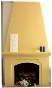 Gold feature chimney breast