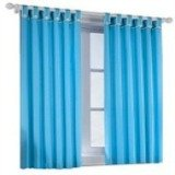 Ice blue drapes