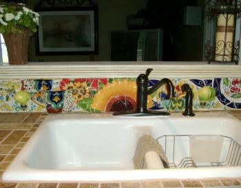 Soffit And Backsplash Ideas - Kitchen Mosaic