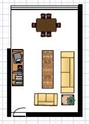 Living Room Furniture Arrangement Idea