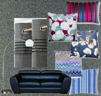 Bluey-Grey Carpet Color Scheme