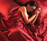 Red satin sheets