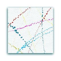 Splatter painting on white background