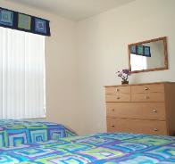 Square patterned bedding set and window pelmet