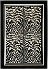 Zebra skin patterned rug